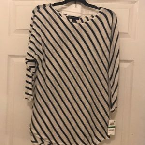 Blue and White striped New Tunic Top